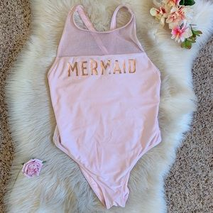 "Light Pink ""Mermaid"" One Piece"